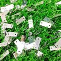 Sequins, Silver colour, 4mm x 10mm, 185 pieces, 3g, Rectangular, Sequins are shiny, [CZP618]